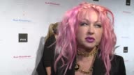 INTERVIEW Cyndi Lauper on the benefits of Art in school at Russell Simmons' Rush Philanthropic Arts Foundation's Annual Rush HeARTS Education...