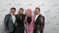 Cyndi Lauper Robert Herjavec Kym Johnson and Carson Kressley at the Cyndi Lauper's True Colors Fund Inaugural Damn Gala at Hollywood Athletic Club on...