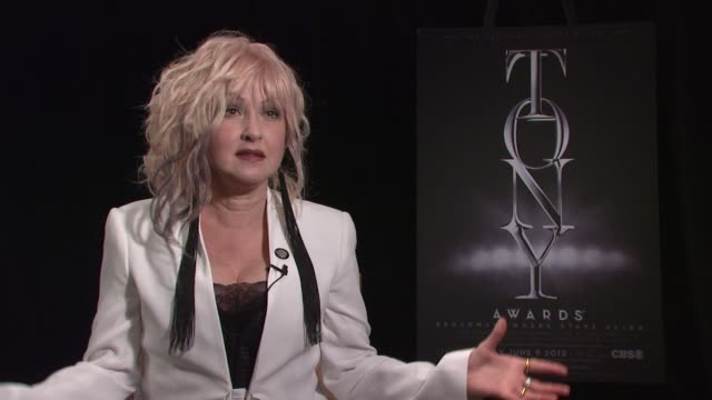 INTERVIEW Cyndi Lauper talks about working on 'Kinky Boots' and receiving a nomination at 2013 Tony Awards Meet The Nominees Press Reception at...
