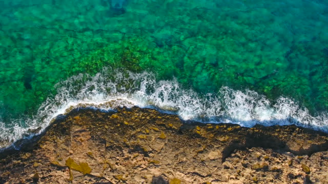 Cyprus, Ayia Napa. Aerial View. Beautiful landscape and sea waves