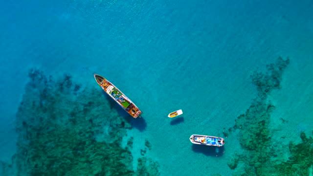Cyprus, Ayia Napa. Aerial View. Blue lagoon. Beautiful landscape and sea waves