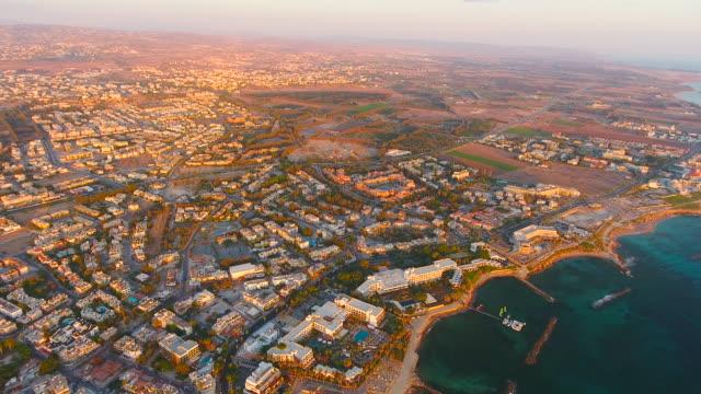Cyprus, Paphos. Aerial View. Beautiful scenery of Paphos.