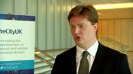 Danny Alexander interview ENGLAND London INT Danny Alexander MP interview SOT re TheCityUK report suggesting Britian should stay in EU appropriate...