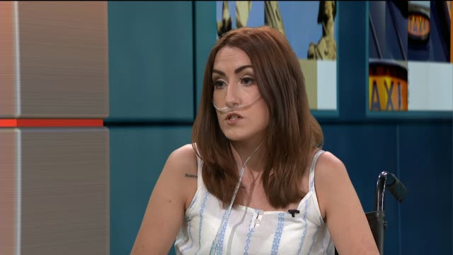 22 year old woman takes herself off transplant list in order to complete bucket list ENGLAND London GIR INT Channan Petrides LIVE STUDIO interview SOT