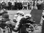 Czar Nicholas II of Russia family getting into carriage / documentary