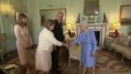 Czech Republic President Milos Zeman meets Queen Elizabeth II at Buckingham Palace ENGLAND London Buckingham Palace PHOTOGRAPHY*** Czech Republic...