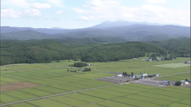 Daisetsuzan Volcanic Group, Hokkaid_ Aerial Shot