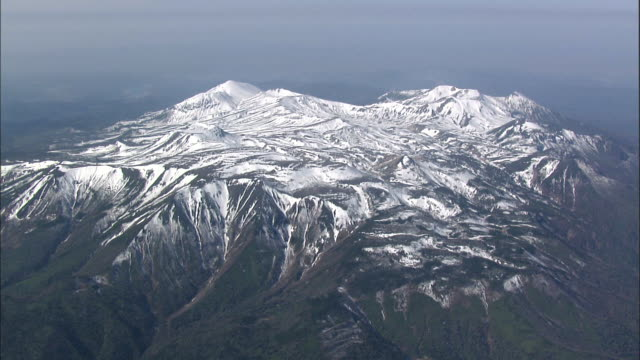 Daisetsuzan Volcanic Group in winter, Hokkaid__Aerial Shot