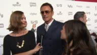 INTERVIEW Daisy Betts Julian McMahon and Yael Stone talk about Childhood's End on Syfy at NBCUniversal Cable Entertainment Upfront 2015 at The Jacob...