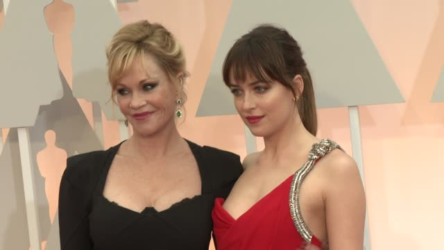 Dakota Johnson and Melanie Griffith at the 87th Annual Academy Awards Arrivals at Dolby Theatre on February 22 2015 in Hollywood California