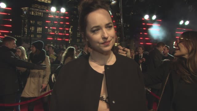 INTERVIEW Dakota Johnson on the film the romance what she wouldn't do in a film at 'Fifty Shades Darker' UK Premiere at Odeon Leicester Square on...