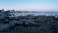 Dalian Xinghai Bay.Day to night