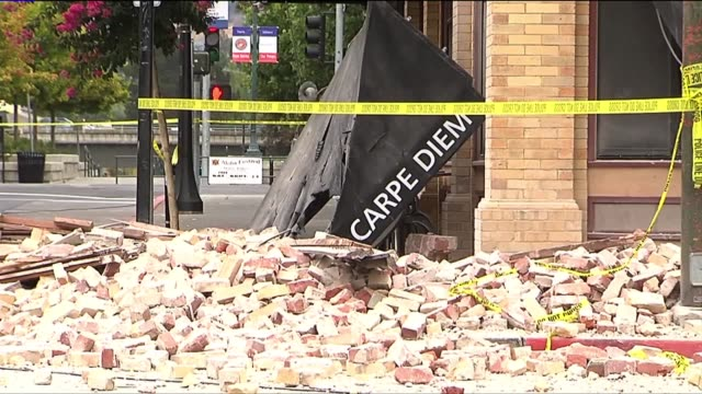 Damage Caused by 60 Earthquake in Napa California