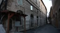 Damaged building in L'Aquila on March 21 2017 The Eighth anniversary of the L'Aquila earthquake will be marked on 06 April 2017 commemorating the...