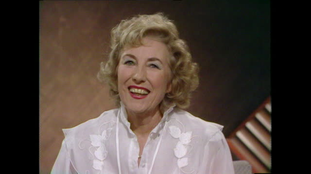 Dame Vera Lynn recounts a joke response to a friendly heckle about the song 'It's a Long Way to Tipperary' 1984 LLVG340R AEVZ001J