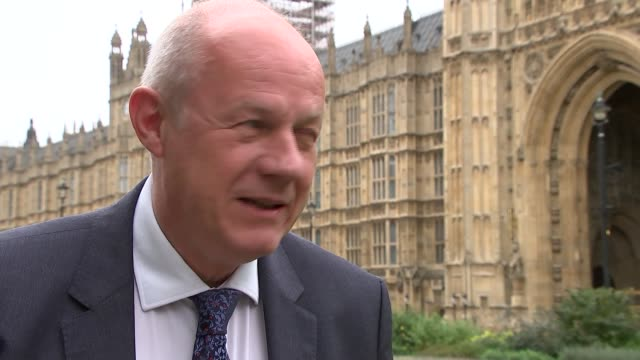 London Westminster EXT Damian Green MP interview SOT re racial injustice