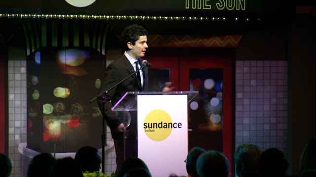 SPEECH Damien Chazelle accepts Sundance Institute Vanguard Award says Sundance is about taking private and local projects and making them universal...