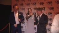 Damien Lewis Andrea Riseborough at 'Silent Storm' Red Carpet at Vue West End on October 14 2014 in London England