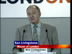 Police appeal for new witnesses INT Flowers laid in stairwell London Ken Livingstone press conference SOT Young Londoners more frightened than my...