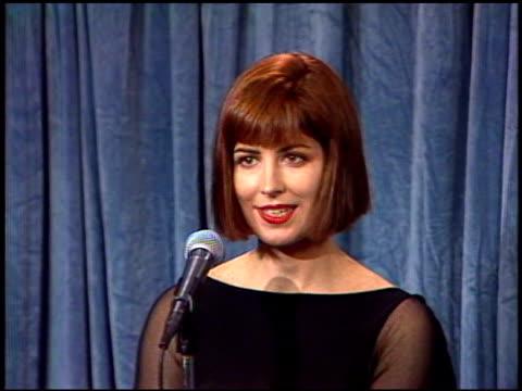 Dana Delaney at the 1989 Emmy Awards Backstage at the Pasadena Civic Auditorium in Pasadena California on September 17 1989