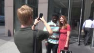 Dana Delany leaving SiriusXM Satellite Radio poses for photos with fans in Celebrity Sightings in New York