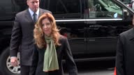 Dana Delany smiles to fans as she arrives at 'Good Morning America' in New York 10/03/11