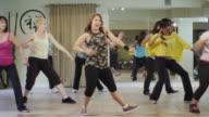 Dance fitness class in a studio