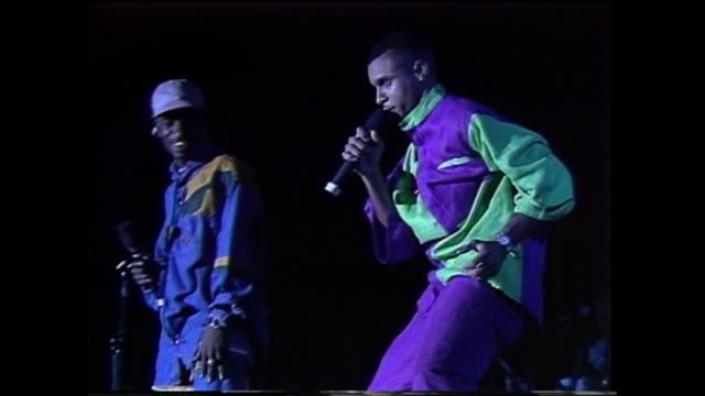 Dancehall reggae artist Shaggy performs with reggae artist Don in Brooklyn NY
