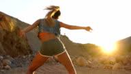 Danser vrouw in het wild