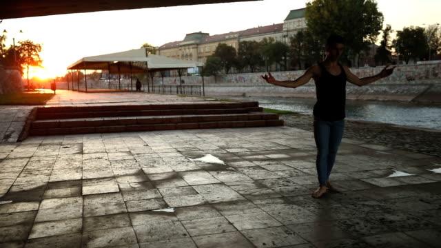 Dancing barefoot in public