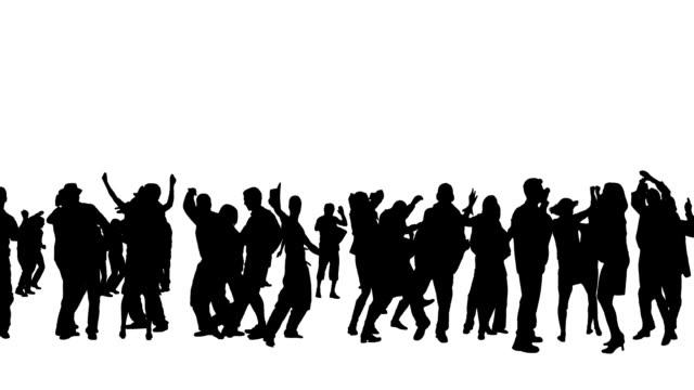 Danza silhouette di persone