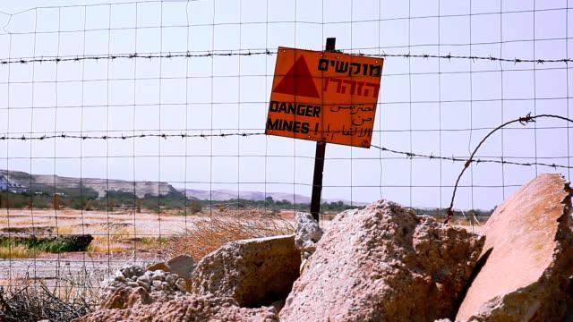 Danger mines sign