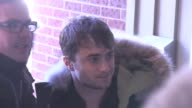 Daniel Radcliffe signs for fans in garage at Ski Lift in Park City UT 01/18/13 Daniel Radcliffe signs for fans in garage at Ski L on January 18 2013...