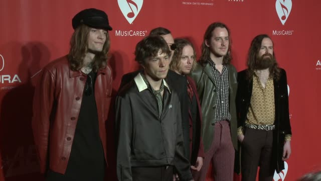 Daniel Tichenor Jared Champion Matt Shultz Brad Shultz Nick Bockrath Matthan Minster at MusiCares Person of the Year Honoring Tom Petty in Los...