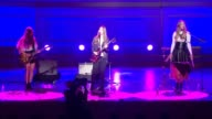PERFORMANCE Danielle Haim Alana Haim and Este Haim of HAIM at Glamour Magazine's 24th Annual Women Of The Year Awards at Carnegie Hall on November 10...