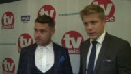 INTERVIEW Danny Miller Ryan Hawley on Emerdale taking the award the competition and future storylines on September 04 2017 in London England