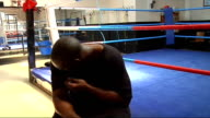 Danny Williams training More of Williams boxing in ring with sparring partner Danny Williams interview SOT