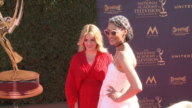 Daphne Oz and Carla Hall at the 44th Annual Daytime Emmy Awards at Pasadena Civic Auditorium on April 30 2017 in Pasadena California