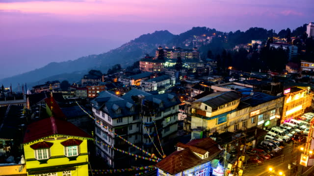 LD TL D2N Darjeeling city view from high angle shot
