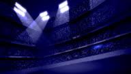 Dark Blue Stadium Stands Background Loop