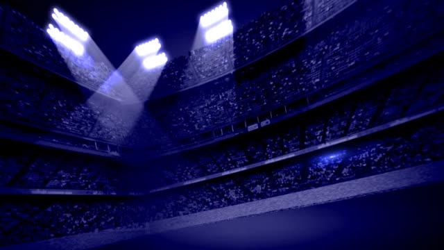 Dunkelblauer Stadion-Tribüne Hintergrund Loop