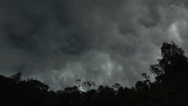 Dark brooding storm clouds gather in sky, Madagascar