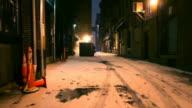Dark Cold Alleyway