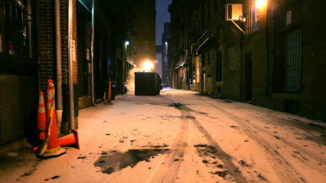 Dark Cold Alleyway