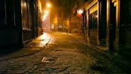 Dunkle kalten Urban Street