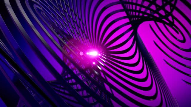 Dunkle Complex abstrakte Form Animation mit hellen Core