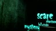 Dunklen Korridor. Horror Film oder Halloween-Hintergrund.