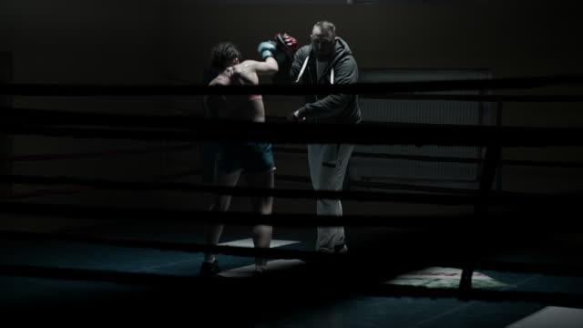 Dark gym boxing