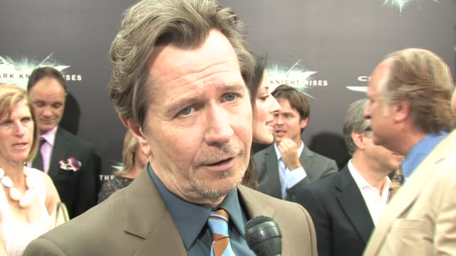 Dark Knight Rises Gary Oldman interview at Lincoln Square Theater on July 16 2012 in New York NY