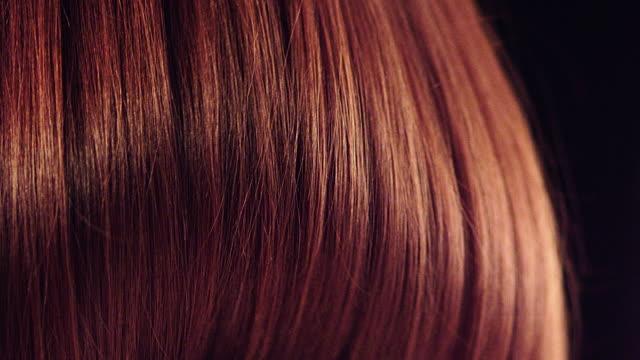 Dark, shiny hair